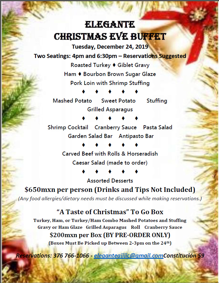 Elegante Christmas Eve Buffet Tuesday, December 24 Christ10