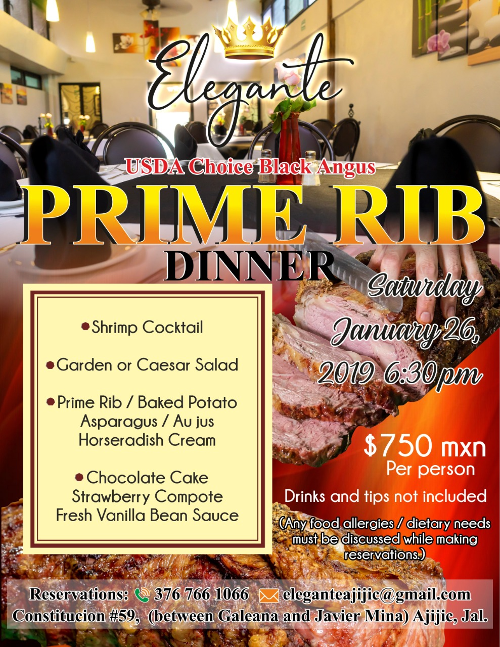 Elegante Prime Rib Dinner Saturday, January 26, 2019 at 6:30pm Prime_12