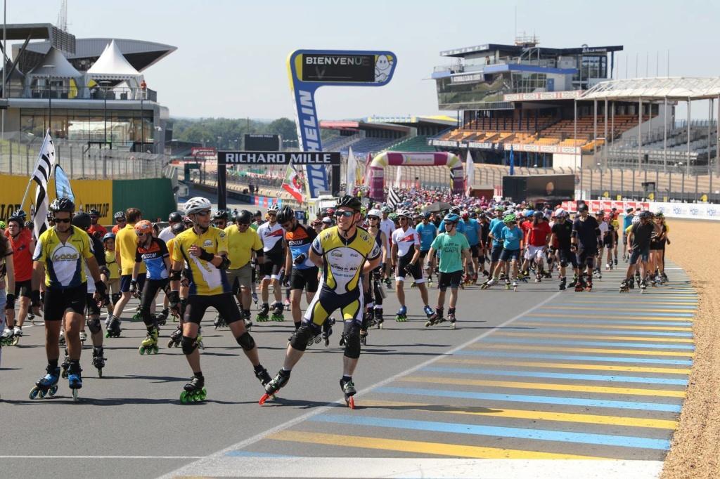Le RLC aux 24h du Mans roller. Parade10