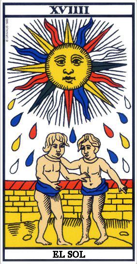 Comparación cartas Marsella y Rider-Waite: El Sol El_sol10