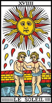 Comparación cartas Marsella y Rider-Waite: El Sol Sol10