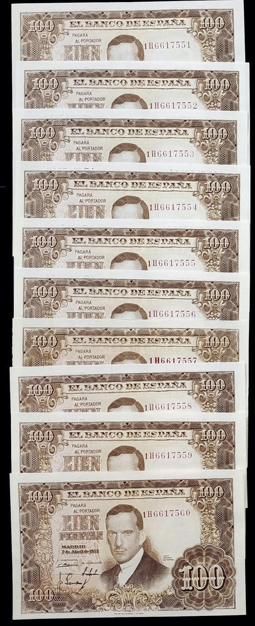 Investigación - Billetes de 100 pts 1953 Romero de Torres 100_1910