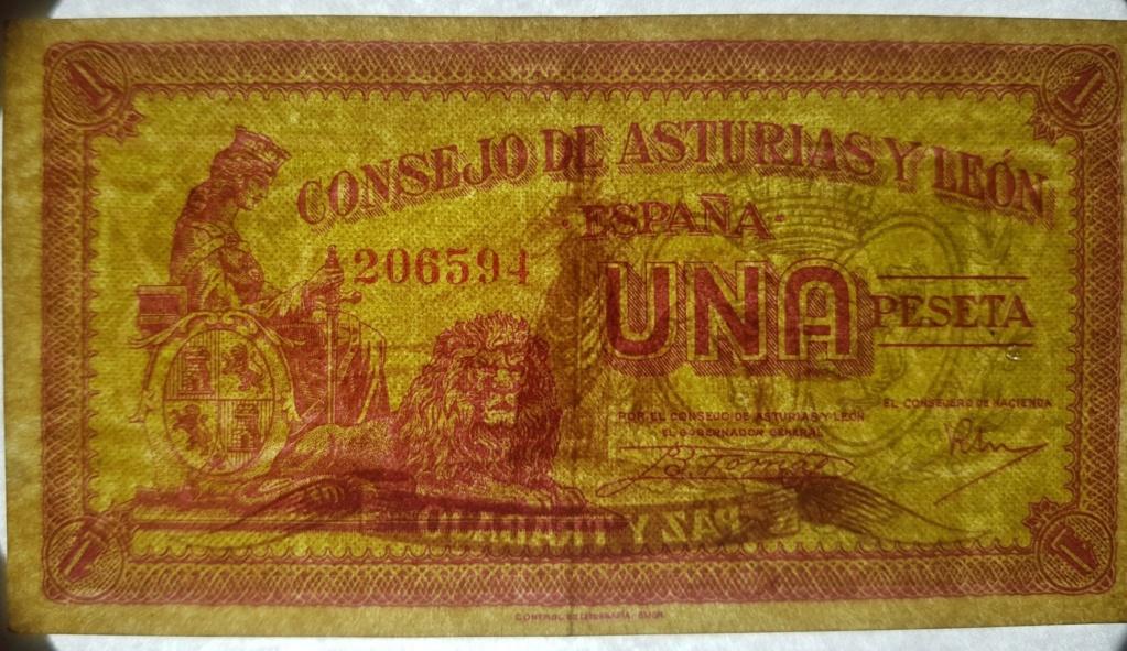 Billete Consejo de Asturias y León variante papel 1 peseta 20200510