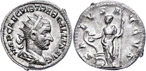 Antoniniano de Treboniano Galo. SALVS AVGVS. Salud a izq. Roma 67523810