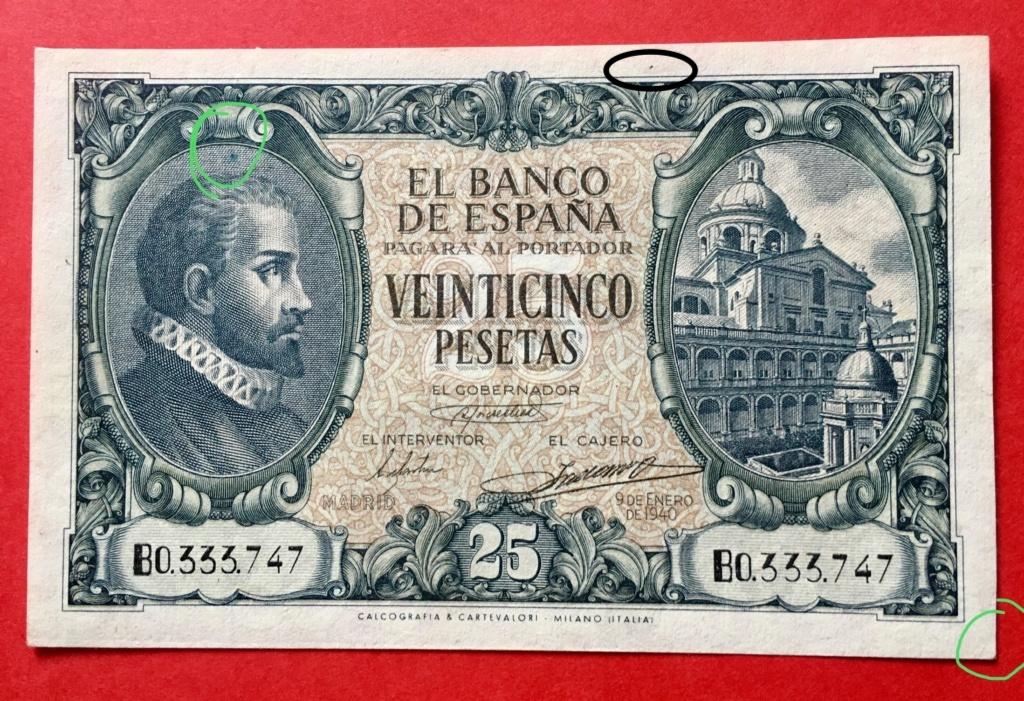 25 Pesetas 9 de Enero de 1940  Juan de Herrera 7fde5610