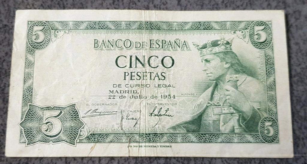 5 pesetas 1954 serie W Captur27