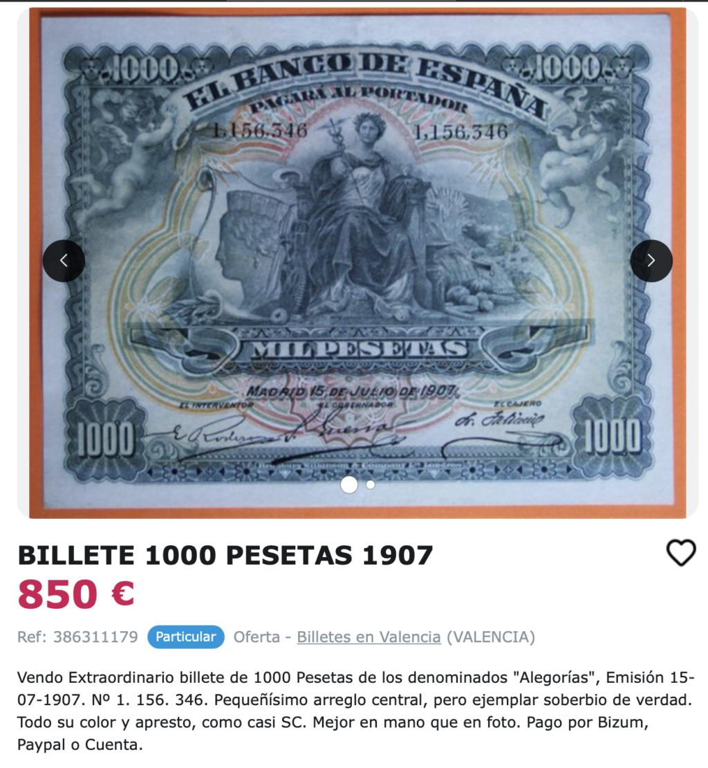 1000 Pesetas 1907 resellado Estado Español (Burgos) - Restaurado (Antes/después) Captur48