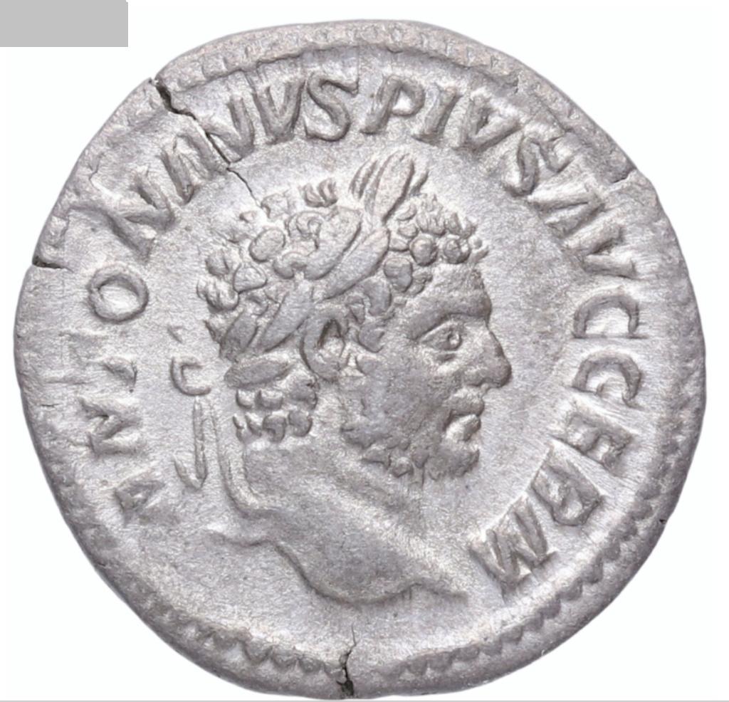 Denario de Caracalla. P M TR P XVIII COS IIII P P. Paz estante a izq. Roma. Caraca11