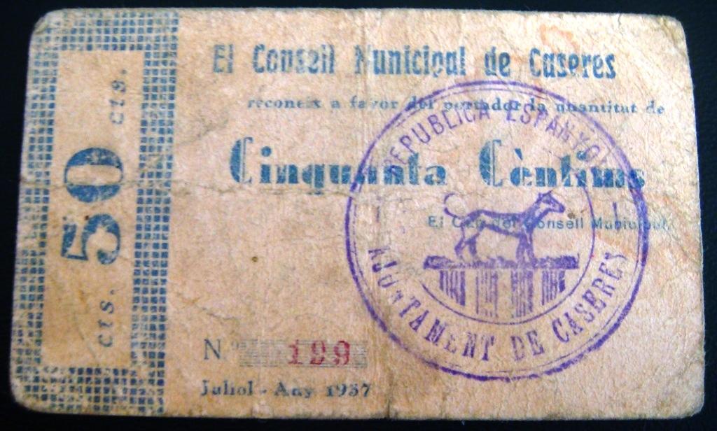 1 Peseta Caseres, 1937 Casere12