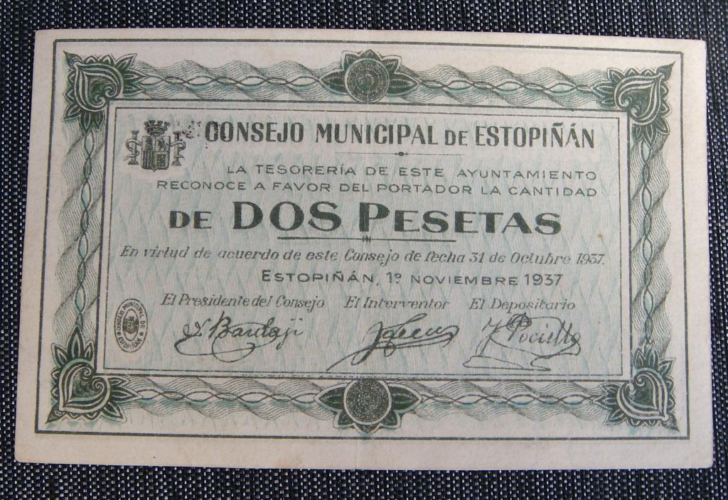 2 Pesetas Estopiñan, 1937 Dsc04972