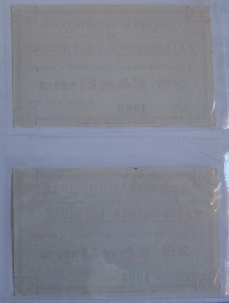 25 Céntimos Vallfogona de Riucorb, 1937 (Pareja) Dsc05027