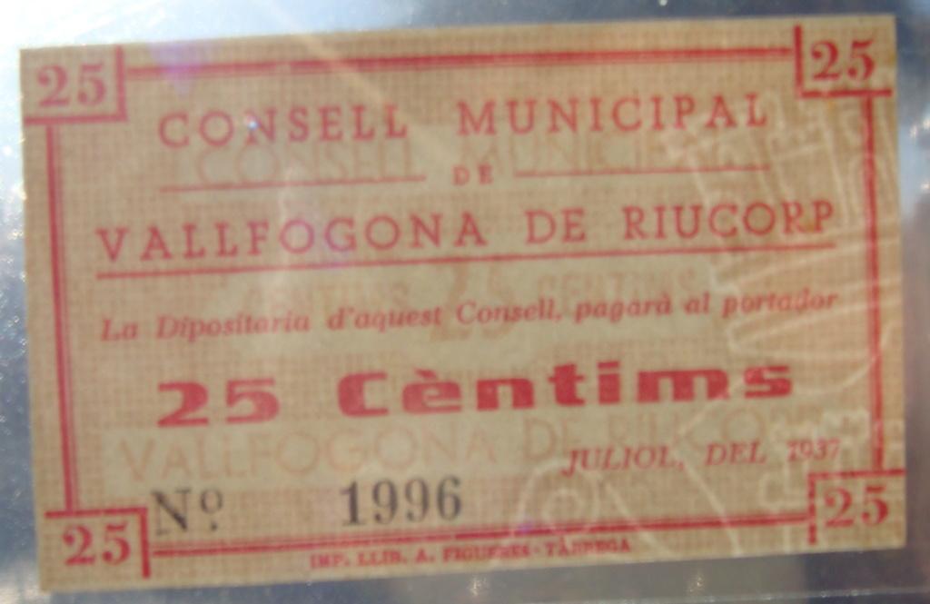 25 Céntimos Vallfogona de Riucorb, 1937 (Pareja) Dsc05028