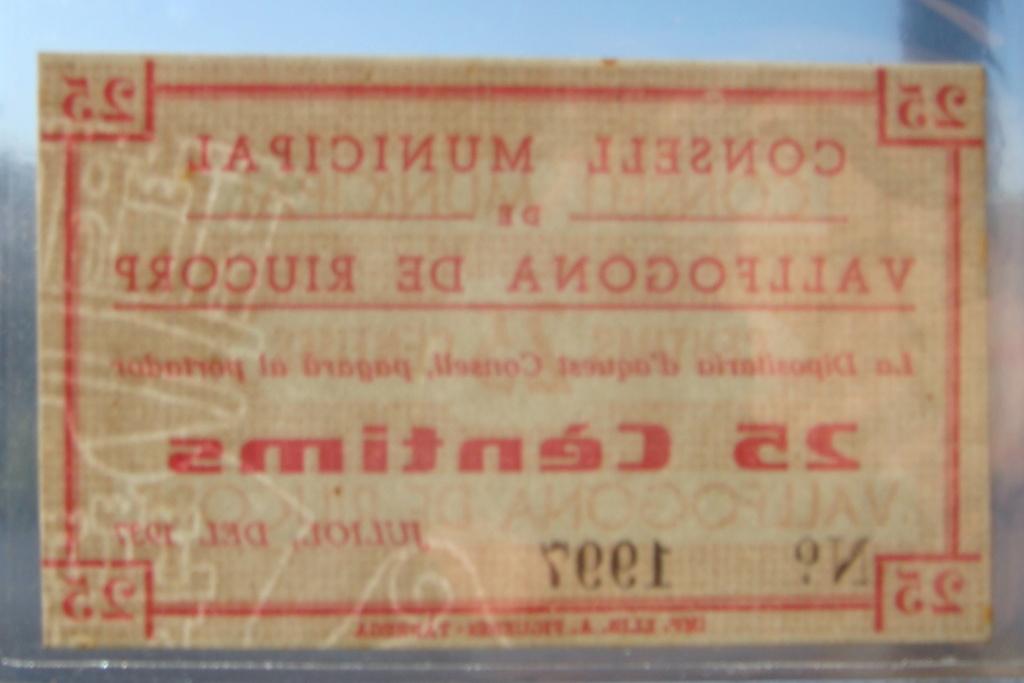 25 Céntimos Vallfogona de Riucorb, 1937 (Pareja) Dsc05029