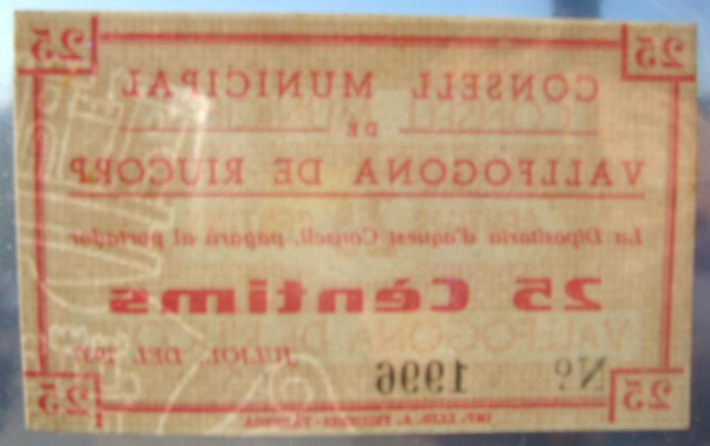 25 Céntimos Vallfogona de Riucorb, 1937 (Pareja) Dsc05031