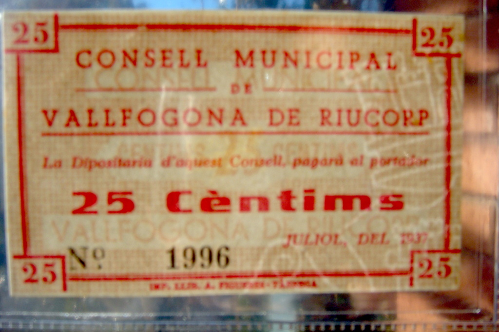 25 Céntimos Vallfogona de Riucorb, 1937 (Pareja) Dsc05032