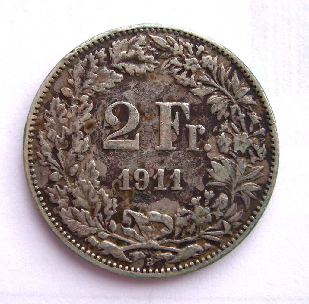 2 Francos de 1911. Confederación Helvetica. Dsc05036