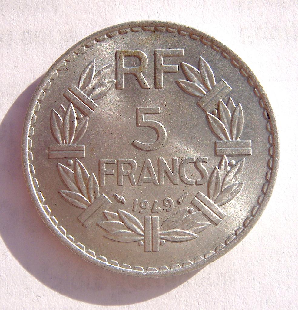 5 Francos Franceses, 1949 Dsc05047