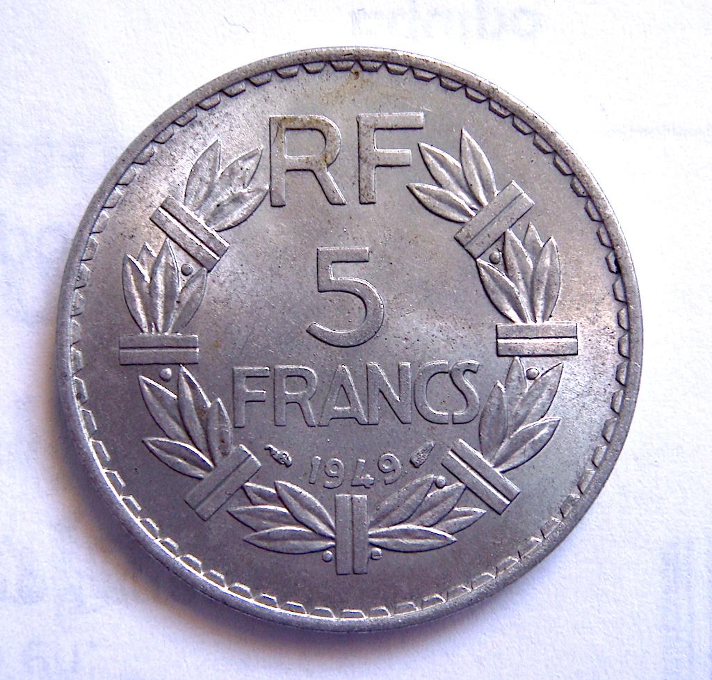 5 Francos Franceses, 1949 Dsc05049
