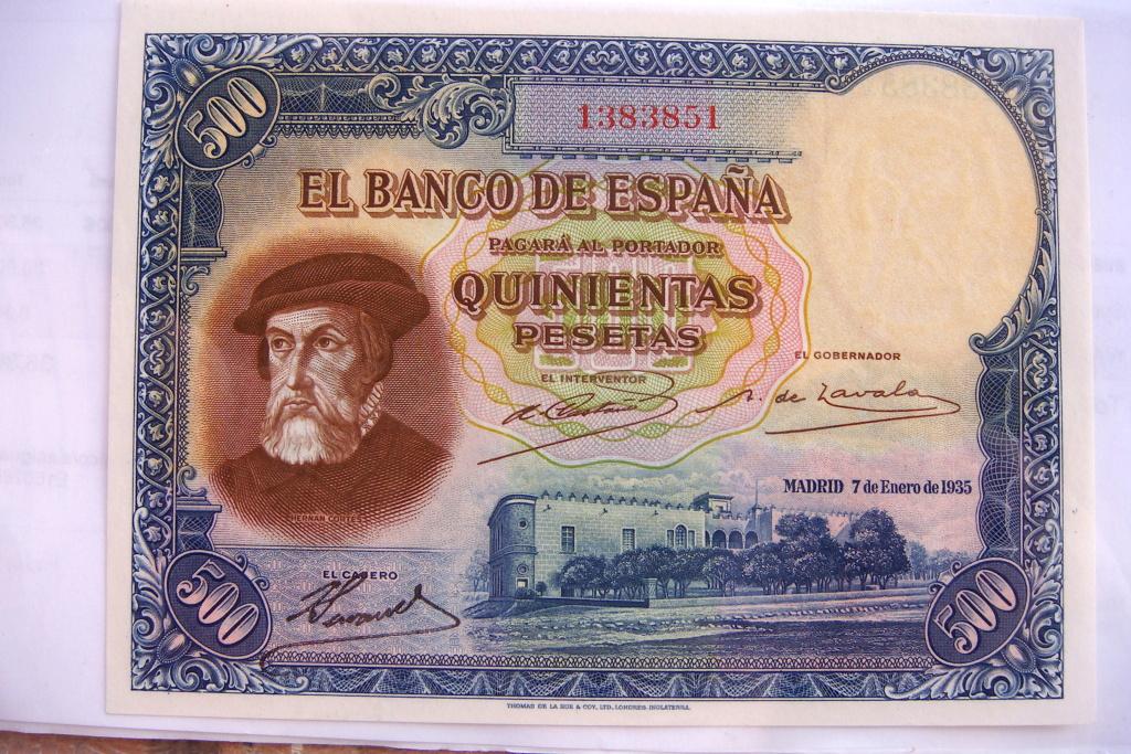 500 Pesetas 1935 Hernán Cortes (Pareja) Dsc05213