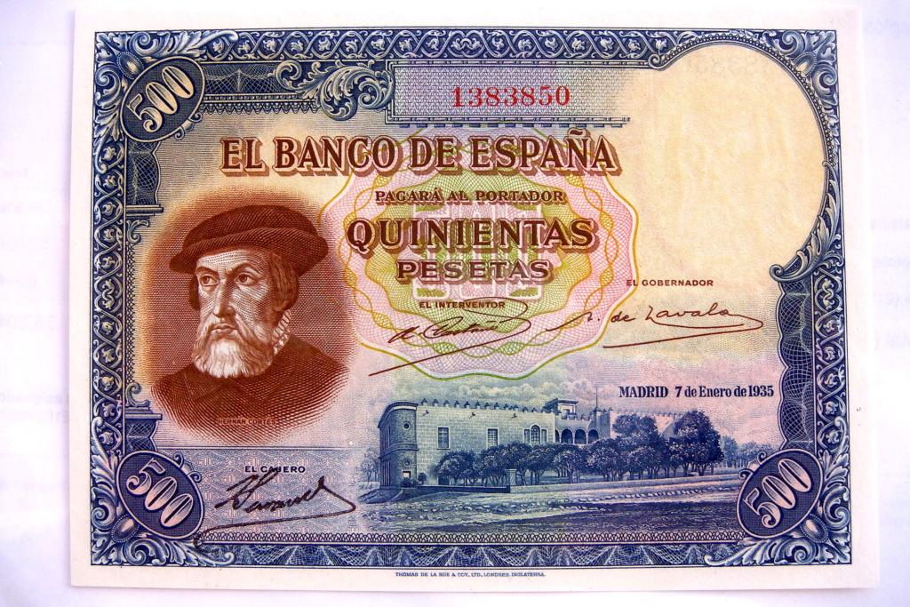 500 Pesetas 1935 Hernán Cortes (Pareja) Dsc05214