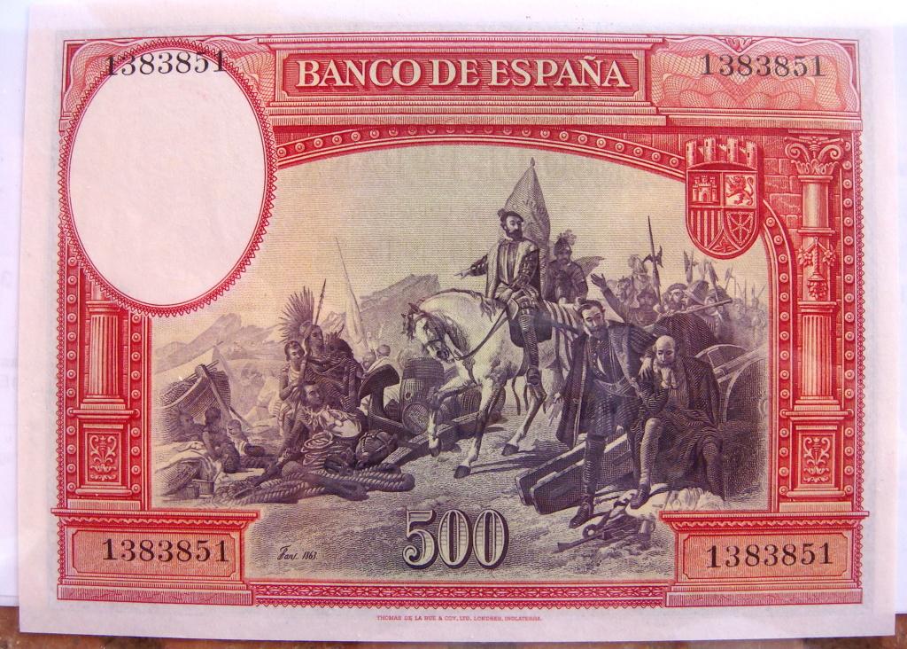 500 Pesetas 1935 Hernán Cortes (Pareja) Dsc05216