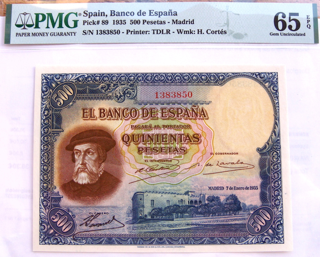 500 Pesetas 1935 Hernán Cortes (Pareja) Dsc05217