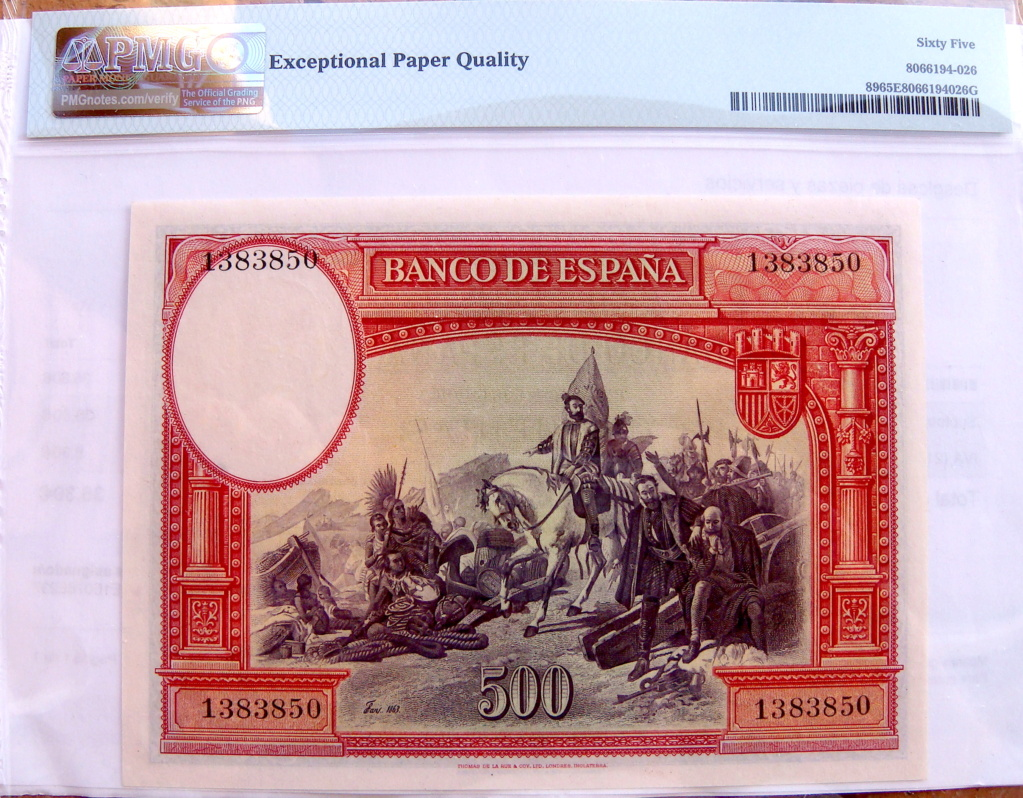 500 Pesetas 1935 Hernán Cortes (Pareja) Dsc05218