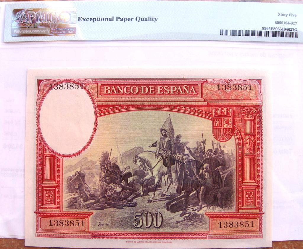 500 Pesetas 1935 Hernán Cortes (Pareja) Dsc05220