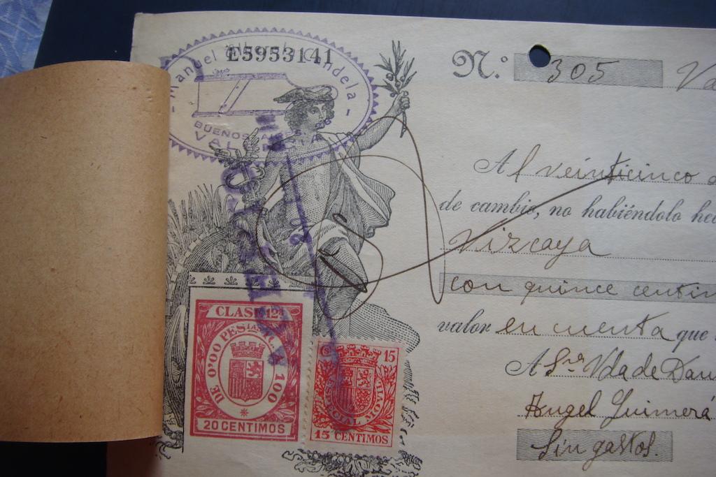 Letra de Cambio Enero 1936 Dsc05324
