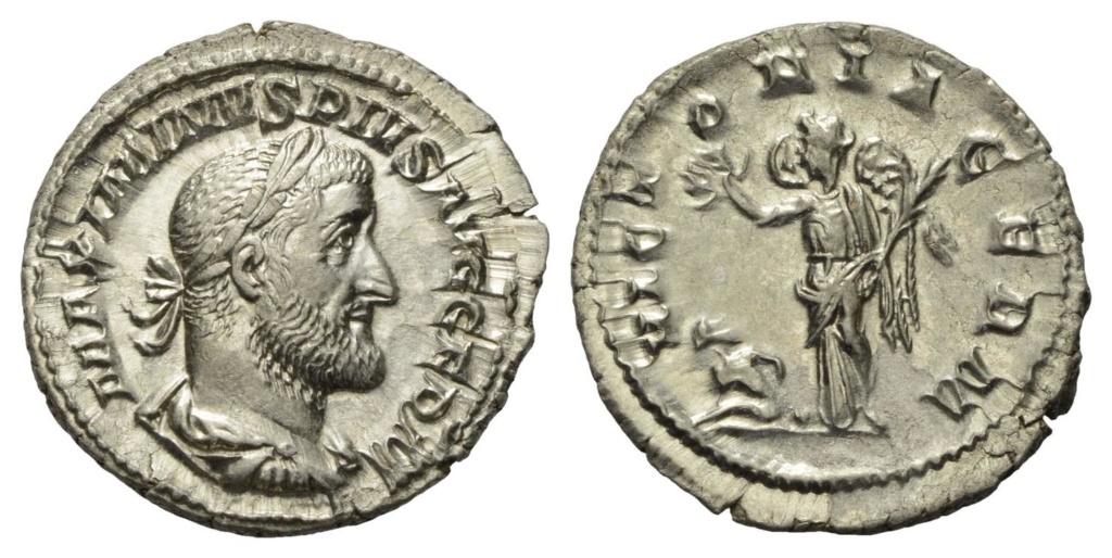 Denario de Maximino I El Tracio. VICTORIA GERM. Victoria estante a izq. Roma. Image010