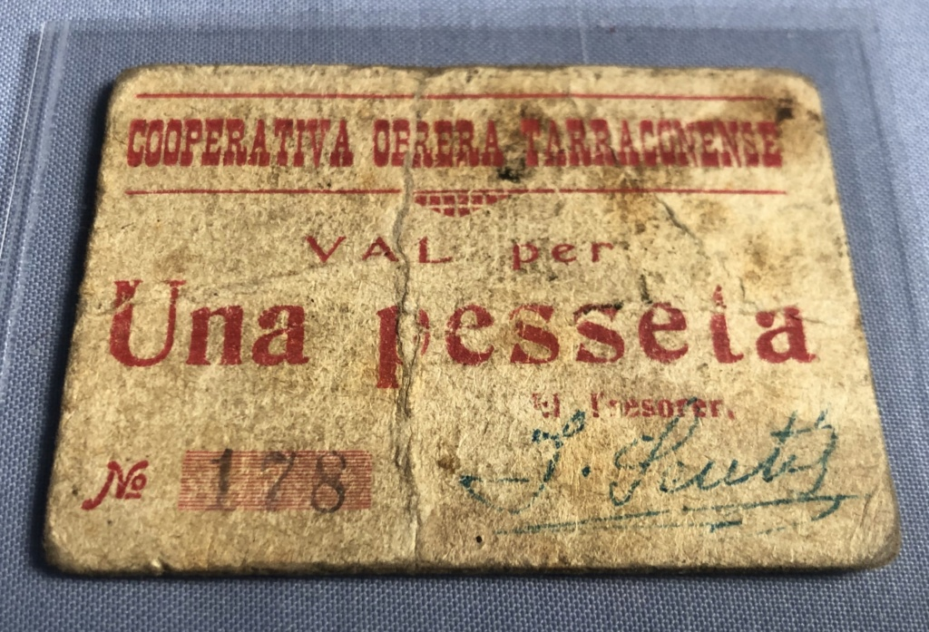 1 Peseta Cooperativa Obrera Tarraconense, 1938  Img_1611