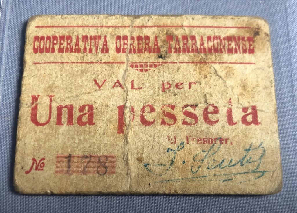 1 Peseta Cooperativa Obrera Tarraconense, 1938  Img_1612