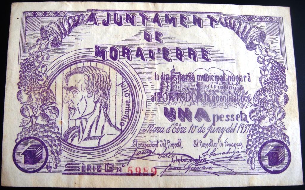 1 Peseta Móra D'Ebre, 1937 Morade10