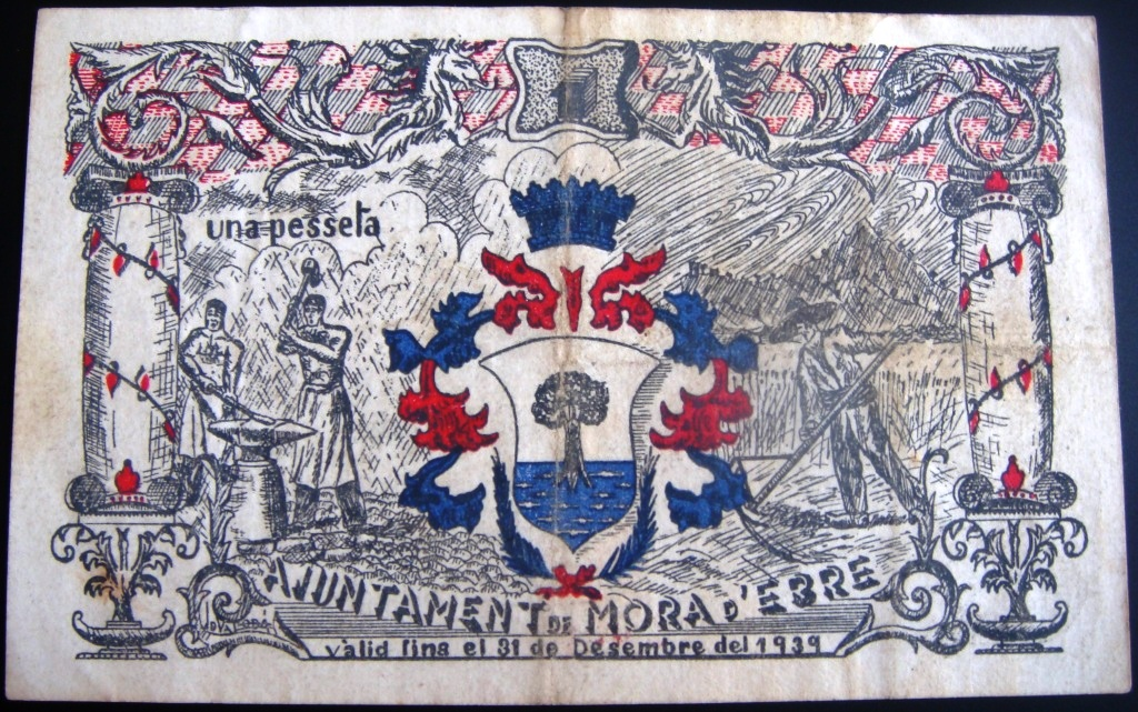 1 Peseta Móra D'Ebre, 1937 Morade11