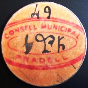 1 Peseta Pradell de la Teixeta 1937 (RRR) Pradel15