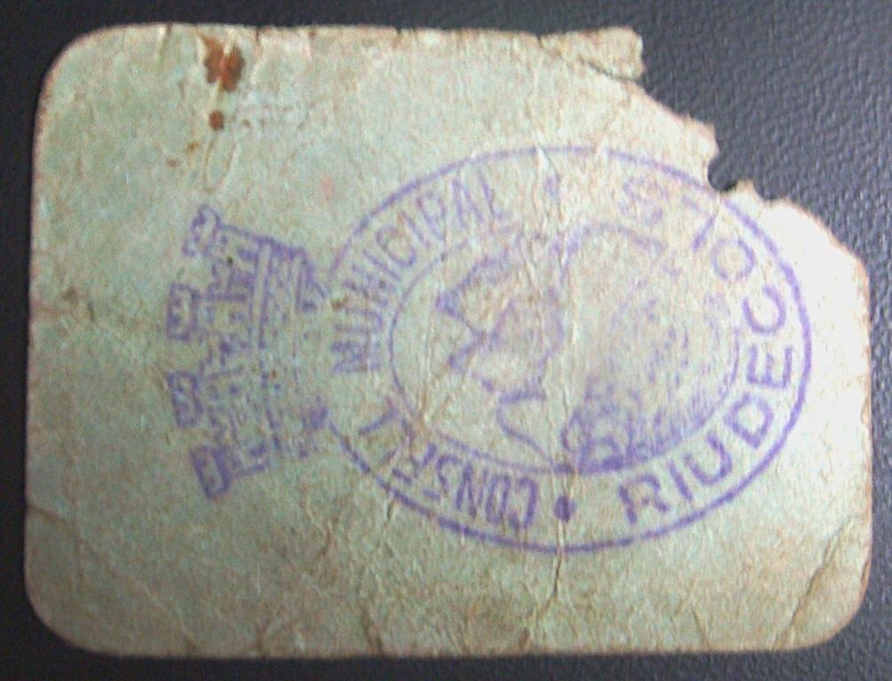 2 Pesetas Riudecols 1937 (RRRR) Riudec10