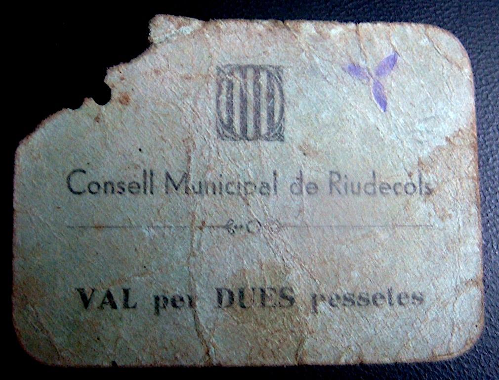 2 Pesetas Riudecols 1937 (RRRR) Riudec11