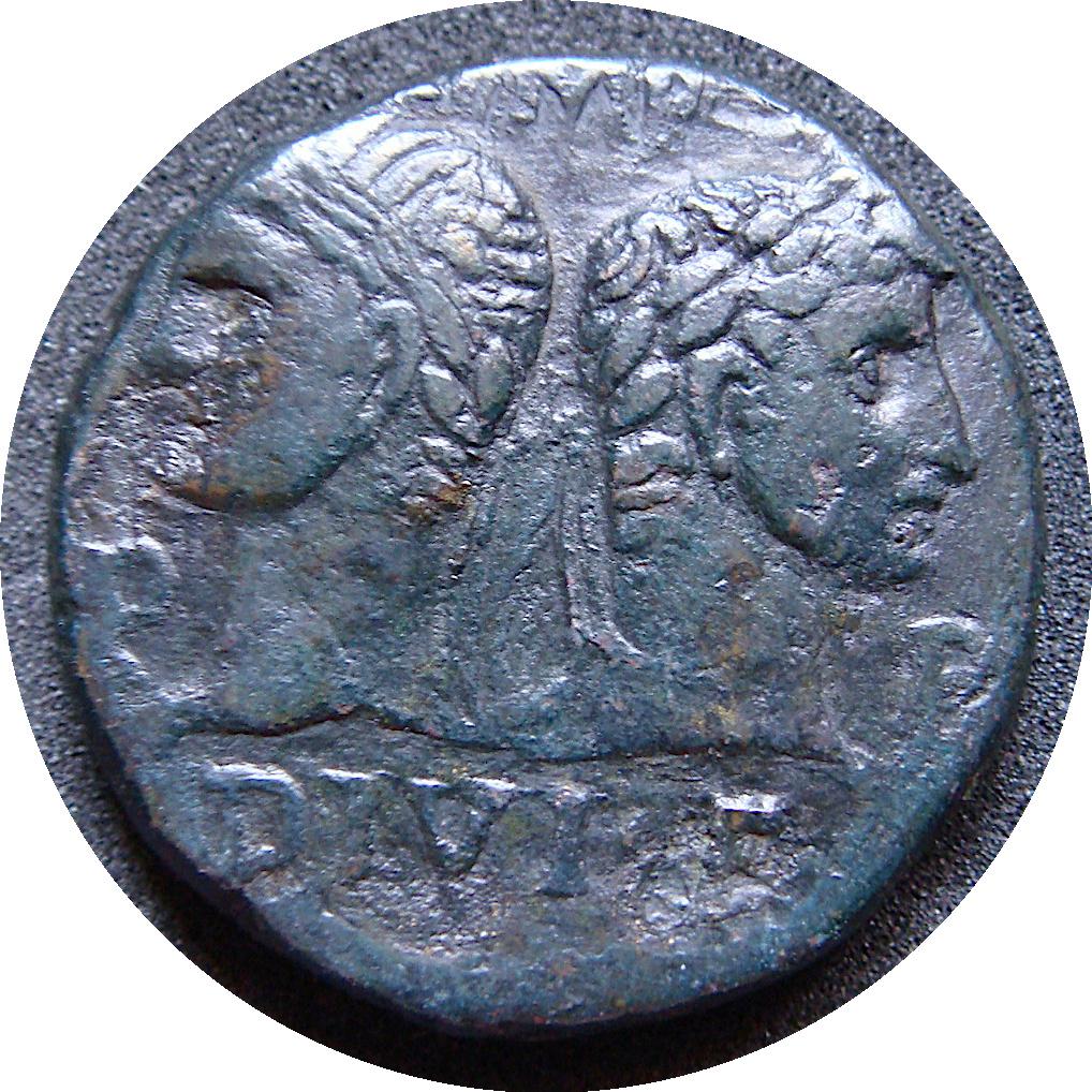 As de  Agripa & Augusto IMP DIVI F P P / COL NEM - Nemausus Rodona12