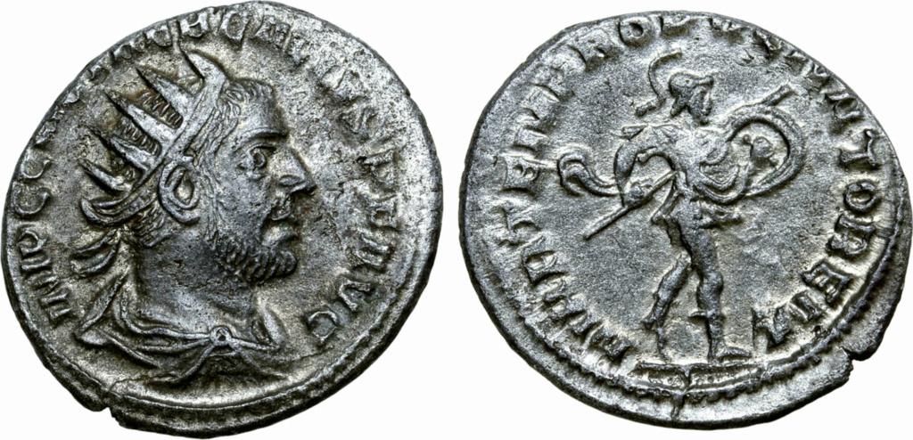 Antoniniano de Treboniano Galo. MARTEM PRO [PVGN] ATOREM. Antioquía Trebon10