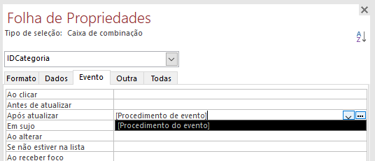 [Resolvido]Procedimento do evento Evento11