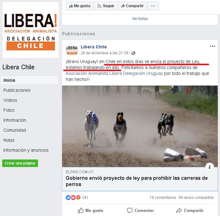 PRONTA LEY DE PROHIBICIÓN DE CARRERAS DE GALGOS EN CHILE Ley_ch10