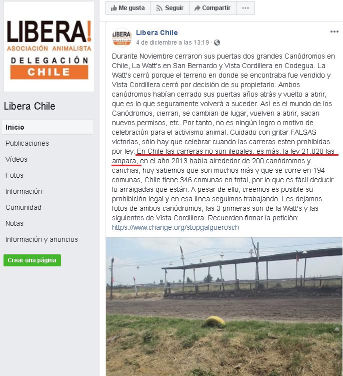ONG VEGANA ABOLICIONISTA LIBERA MIENTE EN POYECTO DE LEY Libera11