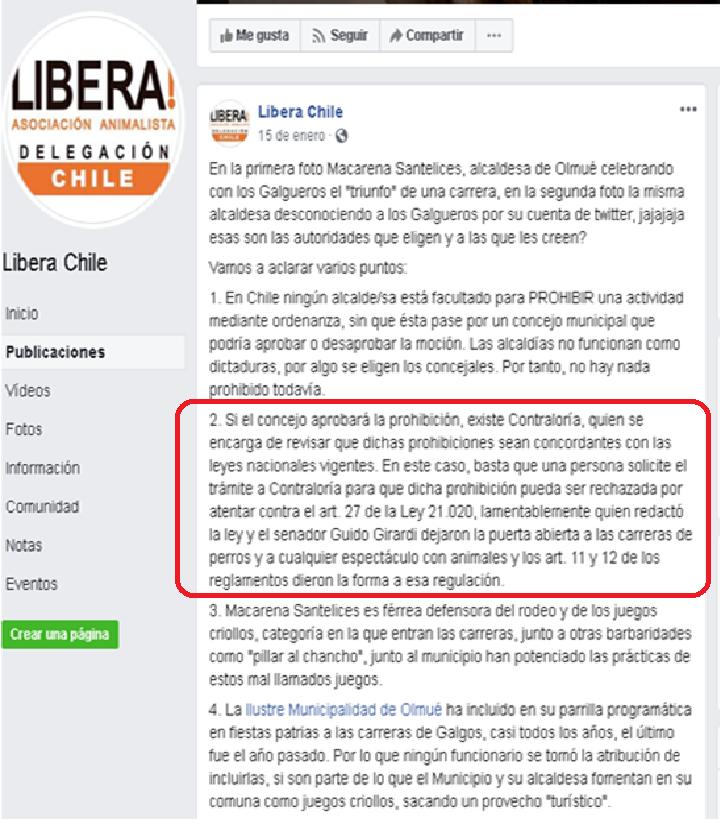 ONG VEGANA ABOLICIONISTA LIBERA MIENTE EN POYECTO DE LEY Libera12