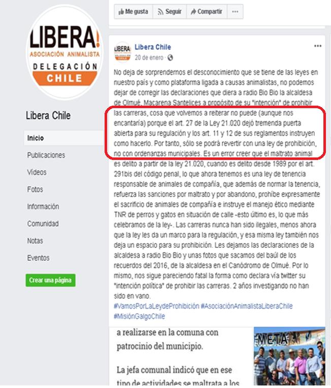 ONG VEGANA ABOLICIONISTA LIBERA MIENTE EN POYECTO DE LEY Libera13