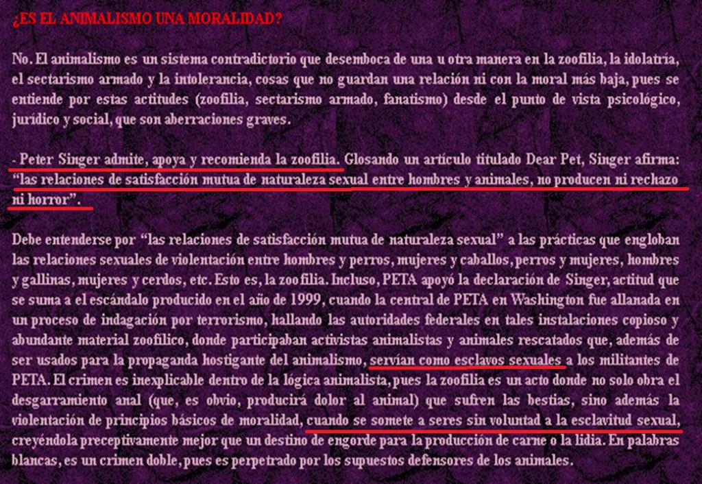 EL LADO PERVERSO DE LA DOCTRINA ANIMALISTA PROHIBICIONISTA Moral10
