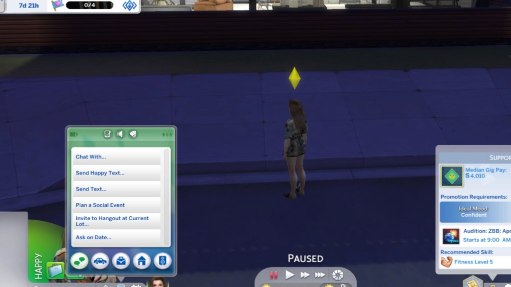 Sims 4 Get Famous - Do not have the options to update Social Media Status Untitl11