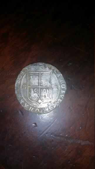 4 Reales de Juana y Carlos I, Mexico. Falsa 20180211