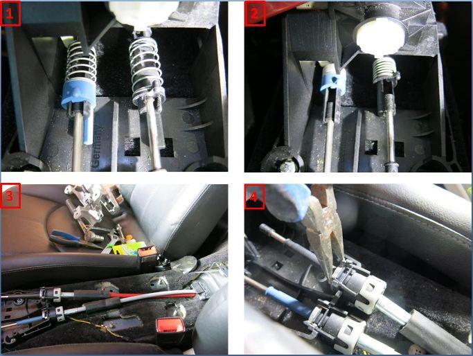Rpl des câbles de transmission de boîte de vitesses - 997 C2S 1410
