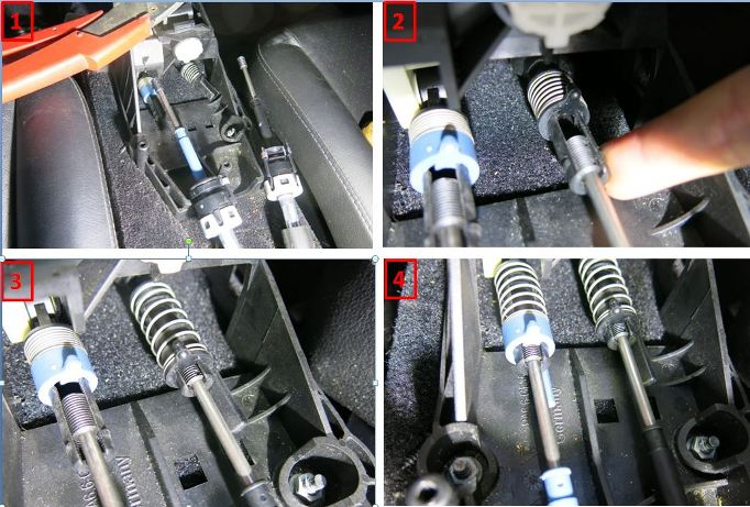 Rpl des câbles de transmission de boîte de vitesses - 997 C2S 2811