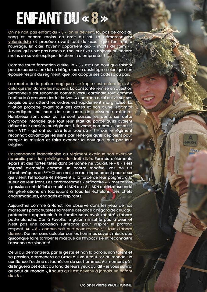 ATTRIBUTS DE LA TENUE militaire au 8e R.P.I.Ma Le_810